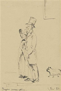 couple with dog by edvard munch