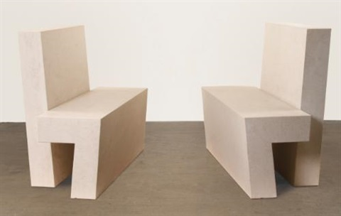 two part bench a pair by scott burton