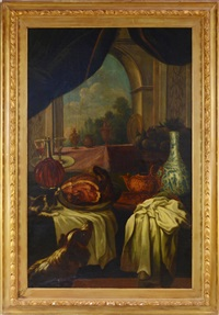a still life with onlooking dogs by anonymous (18)