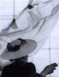 weißer panama mit buntem blütenkranz (modell: gurau-friedrichs) by imre von santho