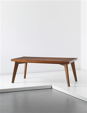 rare dining table designed for the post graduate institute cafeteria and private residences chandigarh by pierre jeanneret