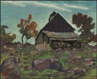 old barn by edwin headley holgate