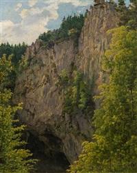 bewaldete felsschlucht by jacob alt