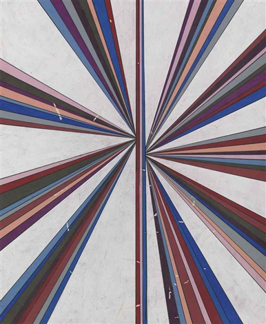 untitled (eleven color variant separated with white butterfly 43.04) by mark grotjahn