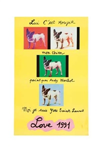love by yves saint laurent and andy warhol