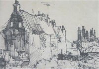 old flint cottages, wells by john knapp fisher