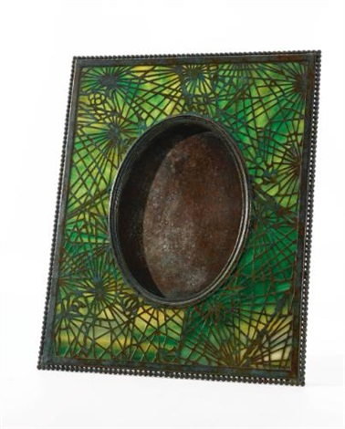 pine bough photograph frame by tiffany studios