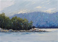 going through active pass, pender island by william (h.w.) townsend