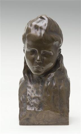 buste van een meisje by ivan mestrovic