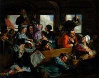 le wagon, scène animée by clément-auguste andrieux