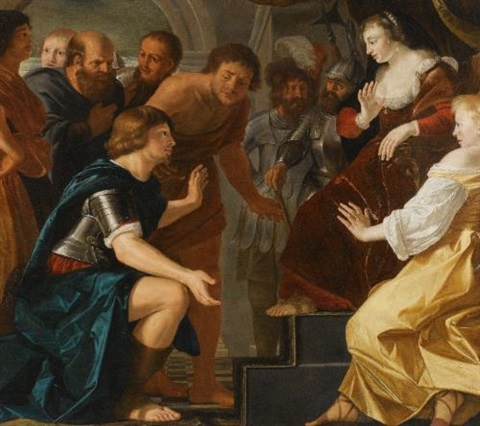aeneas taking leave from dido by christian van couwenbergh