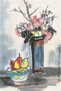 静物 立轴 设色纸本 by guan liang