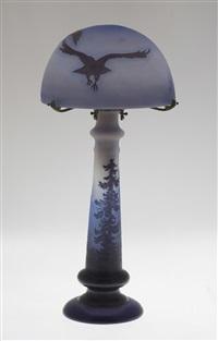 importante lampe de table champignon by émile gallé
