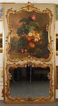 vasque de fleurs et nid d´oiseaux by gérard van spaendonck