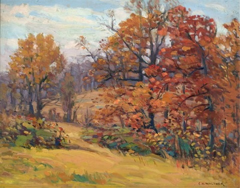 autumn landscape by charles h. walther