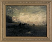 untitled (a bucolic landscape with cows) by arthur parton