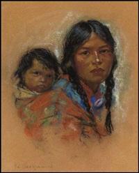mother and papoose by nicholas de grandmaison
