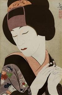 portrait des schauspielers kataoka gadô by yoshiwara kanpo