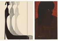 eyes (6) (set of 2) by kiyoshi saito