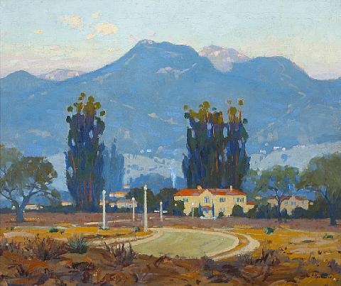 early morning san gabriel mountains pasadena by ferdinand kaufmann