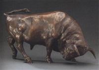 angreifender stier by kurt arentz