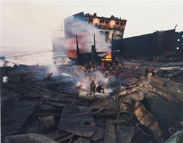 shipbreaking #11, chittagong, bangladesh by edward burtynsky