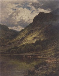 loch venachar, perthshire by henry decon hillier