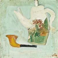 teapot and pipe (recto/verso) by xu na