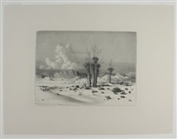 oasis of the seven palms (+ evening, arizona, 1930; 2 works) by george elbert burr