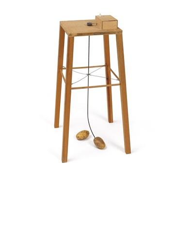 kartoffelmaschine apparat mit dem eine kartoffel eine andere umkreisen kann by sigmar polke