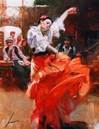 flamenco in red by pino
