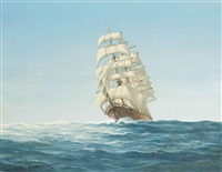 morning light- the barque carradale by john bentham-dinsdale
