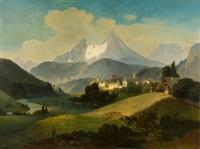 berchtesgaden mit dem watzmann by julius lange
