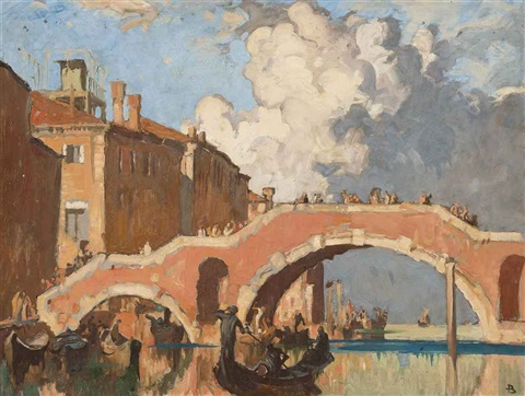 the san giobbe bridge venice by sir frank brangwyn