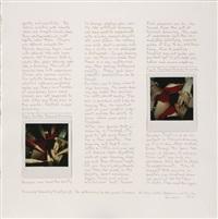 the second apeiron portfolio (4 works mntd on 3 planches)(triptych) by robert heinecken