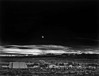 moonrise hernandez, new mexico by ansel adams