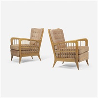 lounge chairs, pair by paolo buffa