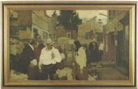 western street scene by walt louderback