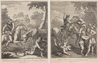 don quijote de la mancha (6 works) by william hogarth