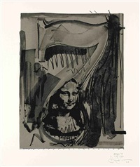 figure 7 (from black numeral series) by jasper johns
