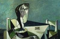 vrouw aan tafel by klaas boonstra