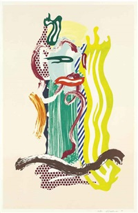 portrait, from brushstroke figures by roy lichtenstein