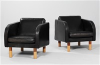 club armchairs, mod. es20-1 (pair) by jörgen gammelgaard
