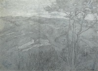 paysage montagneux (in 2 parts) by louis a. f. (jean-louis) janmot