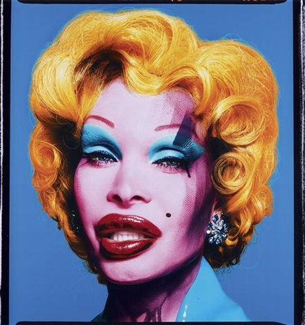 amanda as andy warhol's mailyn (blue) by david lachapelle