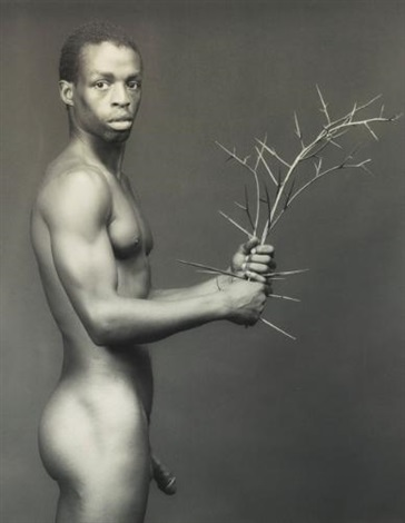 dennis with flowers and dennis with thorns 2 works by robert mapplethorpe
