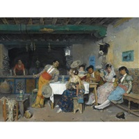amusement in the tavern by francisco peralta del campo