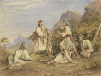 greek bandits fighting by henry melling