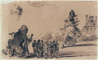 gare les quilles by jean ignace (isidore gérard) grandville