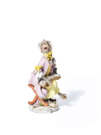 monkey band figure of a seated female singer by johann joachim kändler and peter reinicke